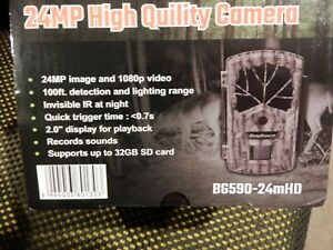 BOLY HD 1080P TRAIL HUNTING GAME 24MP NIGHT VISION GAME CAMERA NO GLOW 100ft NIB
