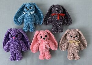 Handmade Crochet Easter Bunny Stuffed Animal Toy - You Pick Color!