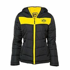 Borussia Dortmund BVB Damen Winterjacke Sportjacke Fußball, Schwarz/gelb, XXL