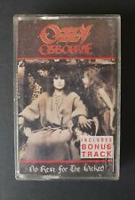 OZZY OSBOURNE - 'NO REST FOR THE WICKED' Cassette Tape Album 1988