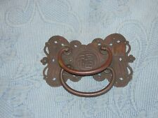 Unusual Antique Victorian Asian Bronze Drawer Double Pull