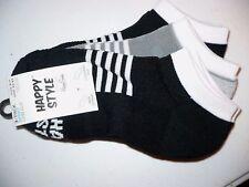 Happy Style Socks Sport Low Cut Socks 3 Pair Shoe Size 5.5-9.5 NEW #28