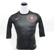 Nike Dri Fit Mens Usa Soccer Shirt Black & Gray Size S
