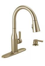 Delta Marca Single-Handle Pull-Down Sprayer Kitchen Faucet Champagne Bronze J
