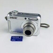 Sony Cyber-shot DSC-S650 7.2MP Digital Camera - Silver With 8GB Memory Card