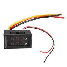 DC 0-300V 10A Voltmeter Ammeter Red LED Panel Amp Digital Volt Gauge
