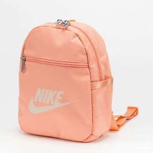 Nike Sportswear Futura 365 Mini Peach Backpack Travel Zipper Bag CW9301 808 NEW!