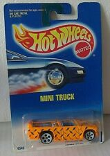 Hot Wheels 1991 - Open Stock - Mini Truck -Collector # 231- 5 Hole White Wheels