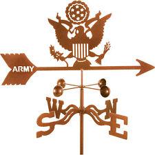 New listing Ez Vane Traditional U.S. Army Logo Spinning Garden Roof Mount Weathervane Decor
