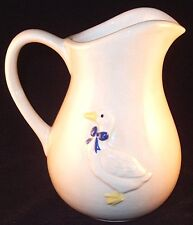 Hand Crafted Pottery Duck Pitcher, Signed Dean '86