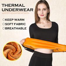 Women's Ladies Long Sleeve Top T-shirt Thick Underwear Thermal Legging Sweater