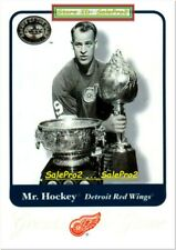 FLEER GREATS OF THE GAME 2001 GORDIE HOWE NHL DETROIT RED WINGS MR. HOCKEY #1