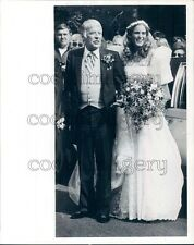 Actor Peter Lawford With Daughter Sydney at Wedding Press Photo