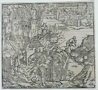 Hans Weiditz 1495-1537 - THE EARTHQUAKE - FIRST EDITION 1532