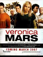 Veronica Mars Season Two 2 Trading Card Dealer Sell Sheet Promotional Sale 2007