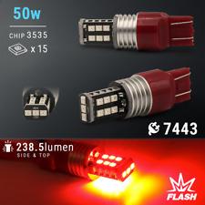 Syneticusa 7443 Red LED Strobe Flash Blinking Brake Tail Light/Parking Bulbs