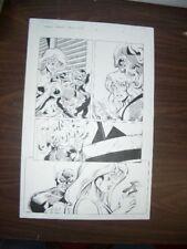 COMMON GROUNDS #3 PG 10-ORIGINAL COMIC ART--DAN JURGENS FN Comic Art