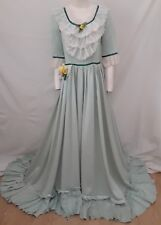 Civil War Costume Southern Belle Long Gown Festival Dress Medieval Maiden S M