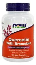 NOW Foods Quercetin With Bromelain, 120 Vegetarian Capsules