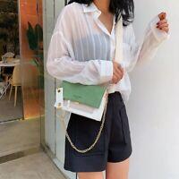 Mini Women Leather Bag Chain Crossbody Shoulder Handbag Small Messenger Clutch