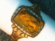 VICTORIAN 14K RING UNISEX YELLOW GOLD 2.6 GRAMS SOLDIERS SIZE 4 BOY GIRL GIFT