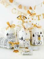 10Pcs Christmas Sacks Reusable Drawstring Wrap Present Gift Party Bag Storage