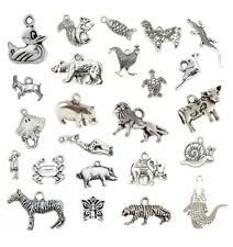 ANIMALS Tibetan Silver CHARMS Necklace Bracelet Jewellery Making Bird Insects UK