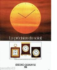 PUBLICITE ADVERTISING  016 1979  SEIKO QUARTZ   pendulettes-réveils