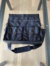 Bosca Ballistic Nylon Messenger Bag Helmet Bag Retail $595 Black NWOT