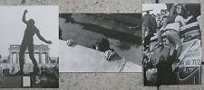 3 x Berliner Mauer Ansichtskarte Ausstellunsprojekt Carl-Zeiss-Oberschule 1990