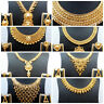 Necklace 22K Gold Plated Indian Designer Variation Necklace Earrings party Set c
