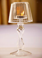 Table Lamp Shape Crystal Glass Candle Holder Wedding Home Decor Candlestick