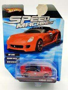 Hot Wheels Speed Machines Ferrari 599XX Red TORN CARD
