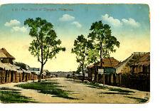 Main Street Scene-Buildings-Olongapo-Philippines Island-Vintage Postcard