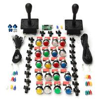 2 Player Arcade DIY Parts 2x USB Encoder + 2x Joystick + 20x LED Arcade Buttons