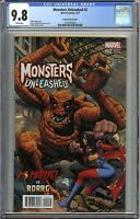 Monsters Unleashed #2 CGC 9.8 MONSTER vs KAMALA KHAN Arthur Adams Variant cover