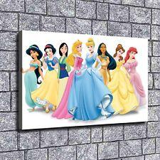 "12""x20"" Disney Princess Paints HD Canvas prints Home decor Room Wall art Picture"