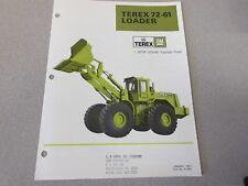 3 Terex 72-61 & 72-21B Wheel Loader Literature Package