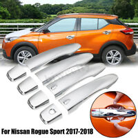 4PCS ABS Chrome Side Door Handle Cover Trim For Nissan Rogue Sport 2017-2018 <