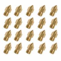 LOT x20 Buse Nozzle 0.4mm pour imprimante 3d Creality CR10/S4/S5, Ender 3/4/5