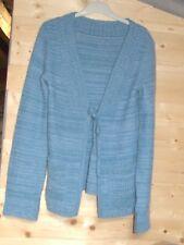magnifique pull / gilet bleu  avec laine et angora  taille  38  comme neuf