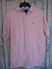 Tommy Hilfiger LG Mens Short Sleeve Collared, Polo, PINK, Classic, Casual