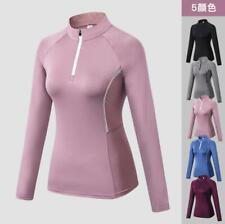 New Women's Yoga Clothing Fitness Elastic Sports GYM Long-Sleeve Tops Jackets