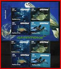 NIGER 1998 TURTLES + S/S MNH GREENPEACE, ANIMALS, REPTILES A20
