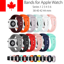 Replacement Silicone Band Straps For Apple Watch 38 40 42 44 mm Series 2 3 4 5 6