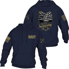 Grunt Style USN - Edge of the World Hoodie Pullover Hoodie - Navy