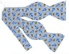 Nautical Bow Tie / Anchor Bow tie, Fishing Net / Blue Bow tie / Self-tie Bow tie