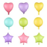 """18"""" / 45cm Heart Foil Balloons Star Love Round Helium Birthday Party Decoration"""