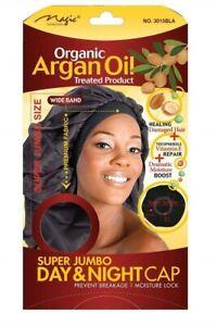 MAGIC COLLECTION ORGANIC ARGAN OIL SUPER JUMBO DAY AND NIGHT CAP BLACK 3015BLA