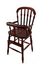 Dolls House Mahogany Victorian High Chair Highchair Miniature Nursery Furniture